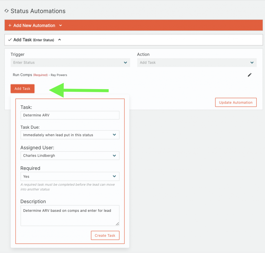 Forefront CRM Add Task Automation
