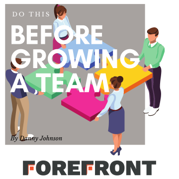 Growing a Team Graphic